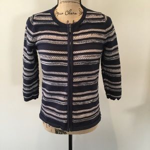 ANNE TAYLOR ZIP UP SWEATER